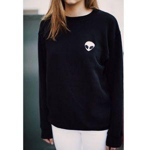Tops - 👽Alien crewneck long sleeve shirt